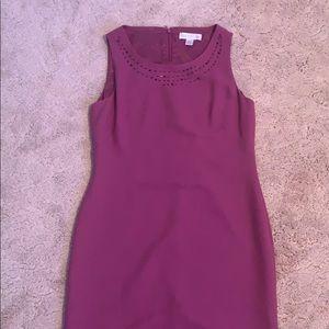 purple petite sophisticate dress